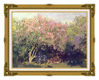 Framed Giclee Print Lilacs in Sun Flowers Claude Monet Art Painting Reproduction