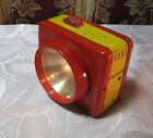 SAFETY-GLO RED RAY MINI LANTERN BATTERY OP  LAMP  VINTAGE   T*