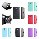 For HTC Desire 610 Case Magnetic Flip Cover Accessory Case w/ LCD Screen Cover