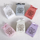 Box Bag Heart Laser Cut Design Wedding Party Gift Candy Boxes with Ribbon 50-300
