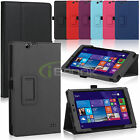 Folio Folding PU Leather Case Stand Cover Skin for Nextbook 8 Windows 8.1 Tablet