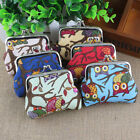 1x Multichoice Color Fashion Owl Coin Money Bag Purse Wallet for Women and Girls