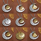 "Personal ""I LOVE YOU TO THE MOON AND BACK "" Necklace Pendant Gold/Silver Plated"