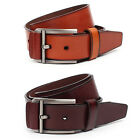 Vintage Style Mens Belt Genuine Leather Metal Buckle Jeans Casual Mountian-ML003