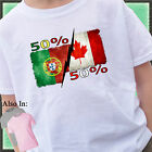 50% Portuguese 50% Canadian Nationality Distressed SHIRT or BODYSUIT proud to be