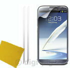 TWIN PACK OF LCD SCREEN PROTECTOR GUARDS AND CLOTH FOR SAMSUNG GALAXY MOBILES
