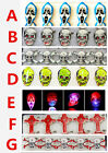 Lot skull mixes LED Flashing Light Up Badge/Brooch Pins Halloween party gifts