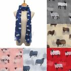 Sheep Print Scarf Animal Winter Warm Shawl Wrap Stole Pashmina Women Neck Voile