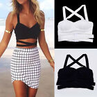 New Women V Neck Bustier Bra Bralette Corset Bodycon Clubwear Party Crop Top