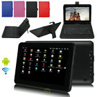 """9"""" QUAD CORE Google Android 4.4 Kitkat Tablet PC 8GB A33 WiFi + Keyboard case US"""