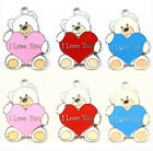 Lot Heart I LOVE YOU cute bears Charms Earrings Pendants DIY Jewelry Making B-01