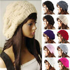 NEW WOMENS LADIES WOOLY KNITTED DIAMOND BOBBLE HAT WINTER WARM HAT MIX COLOURS