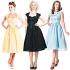 Collectif Ella Doll Vintage 50s Retro Petticoat Flared Evening Party Prom Dress