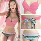 Fashion Women's Push Up Strapless Swimwear Swimsuit Bikini Beach Bathing Suit-CB