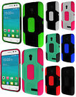 For Alcatel ONETOUCH Pop Star LTE Robust Slim HYBRID Phone Case + Screen Guard