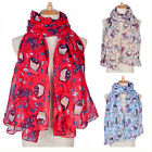 Owl Scarf Print Bird Animal Shawl Wraps Women Neck Stole Pashmina Long Winter