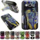 For Samsung Galaxy Prevail LTE / Core Prime Case Hybrid Kickstand Design Cover
