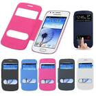 New Ultra Thin Flip PU Leather Window Case Cover For Samsung Galaxy S Duos S7562