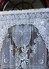 Romantic Victorian Rose Insert Valance by Heritage Lace, 36x11, White or Ecru