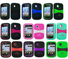 U-Stand Hybrid Armor Case Phone Cover Accessory for TRACFONE LG 306G LG306G