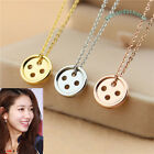 QUALITY Korean TV Drama PINOCCHIO Button Necklace Rose Gold Plated Made in Korea