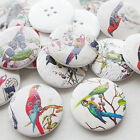 New 30/150pcs Big Birds Wood Buttons 30mm Sewing Craft Mix Lots T0743