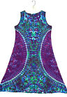 TIE DYE Women's Tank Top Dress Blotter )( hippie boho gypsy sm med lg xl 2X 3X
