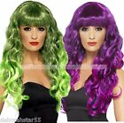 Long Purple Wig Long Green Wig Long Witch Wig Witch Costume WIG Siren Wig