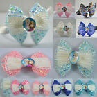 Girls Crystal Diamante Disney Frozen Elsa Anna Hair Bow or Headband Ice Princess