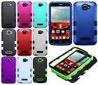Alcatel OneTouch Pop Icon IMPACT TUFF HYBRID Protector Skin Cover +Screen Guard