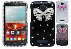 Alcatel OneTouch Pop Icon Crystal Diamond BLING Hard Case Cover + Screen Guard