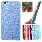 Hollow Out Bird Nest Ultrathin PC Phone Case Cover For Apple iPhone 5 5S 6 4.7""