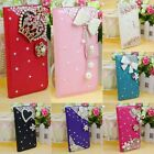 Rhinestone Wallet Leather Bling Cover Skin Case For Samsung Galaxy S5 i9600 TJ5C