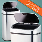 1-home 68 Litre Silver Steel Automatic Sensor Touchless Waste Dust Bin