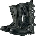 New womens Icon 1000 elsinore johnny black motorcycle biker street boots