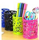 Rose Flower Pattern Cylinder Pen Pencil Pot Holder Container Organizer CA3 TB