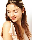 Boho Retro Gold Leaf Tassels Headdress Headband Crown Chain Alice Head Band Cuff
