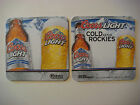 2012 Beer PubCoaster  COORS Brewing Light Cold As The Rockies  COLORADO