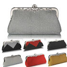 Ladies Women's Night Out Evening Clutch Beaded Diamante Crystal Sparkly Bag Pram