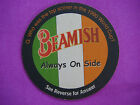 Beer Bar Coaster  BEAMISH Genuine Irish Stout  1990 World Cup Soccer Trivia