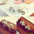 Fashion Lovely Cute Bike Bicycle Pattern Small Silver/Golden Adjustable Ring