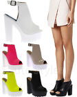 Ladies Womens Cutouts Cleated Sole High Heel Chunky Platform Sandals Shoes Size