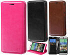 HTC Desire EYE Premium Wallet Case Pouch Flap STAND Phone Cover +Screen Guard
