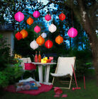 LED Lampion Set in 3 Größen Ø 20 25 30 cm versch. Farben Gartenlampion
