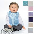 Baby Boys Waistcoat Suit, Page Boy Suits, Grey Trousers, Swirl Pattern