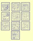 Easter Bluework & Trapunto Machine Embroidery Designs-Anemone Embroidery Designs