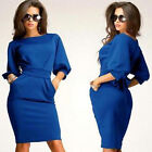 Women Pinup Sheath Bodycon Work to Wear Career Party Evening Cocktail Mini Dress