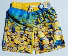 DESPICABLE ME MINION UV-50 Bathing Suit Swim Trunks Sz. 4/5, 6/7, 8 or 10/12 $24