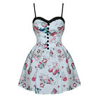 Hell Bunny Mega Cute Cupcake Print Rockabilly Mini Party Dress