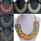 Popular Crystal Chain Collar Choker Statement Bib Charm Necklace Pendant Jewelry
